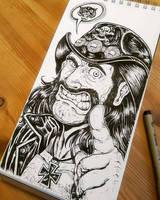lemmy motorhead inktober by TheWolfMaria