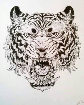 tiger inktober
