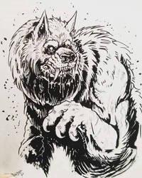 werewolf sketch by TheWolfMaria