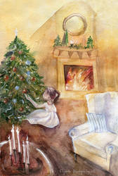 At the Christmas tree