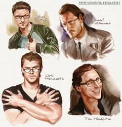 Men wearing eyeglasses2 by velvet-toucher