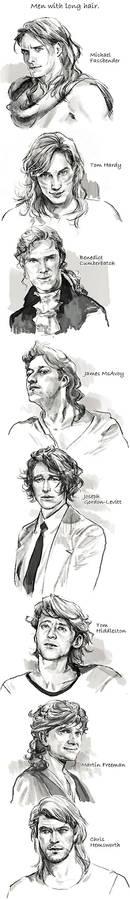 Men with long hair.