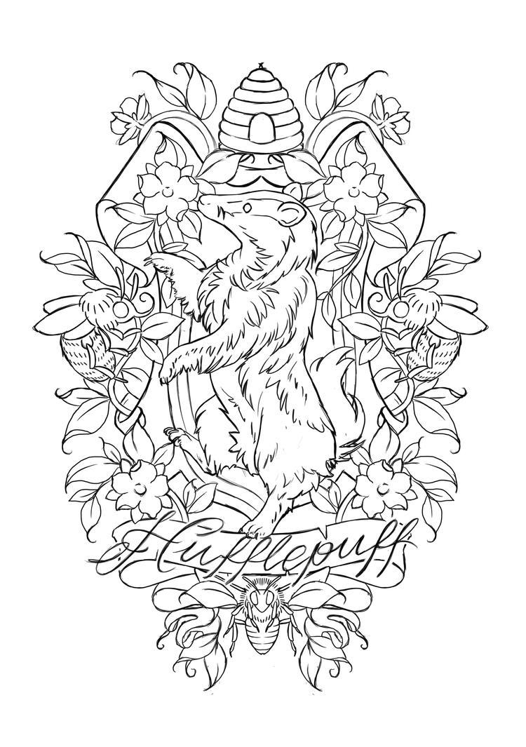 Hufflepuff Crest by Jawbone-Ashtray