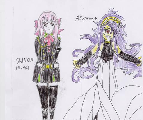 Shinoa And Asauramaru my drawing color