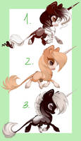 More Unicorns Babs (0/3) All Sold by FreyasAdoptables