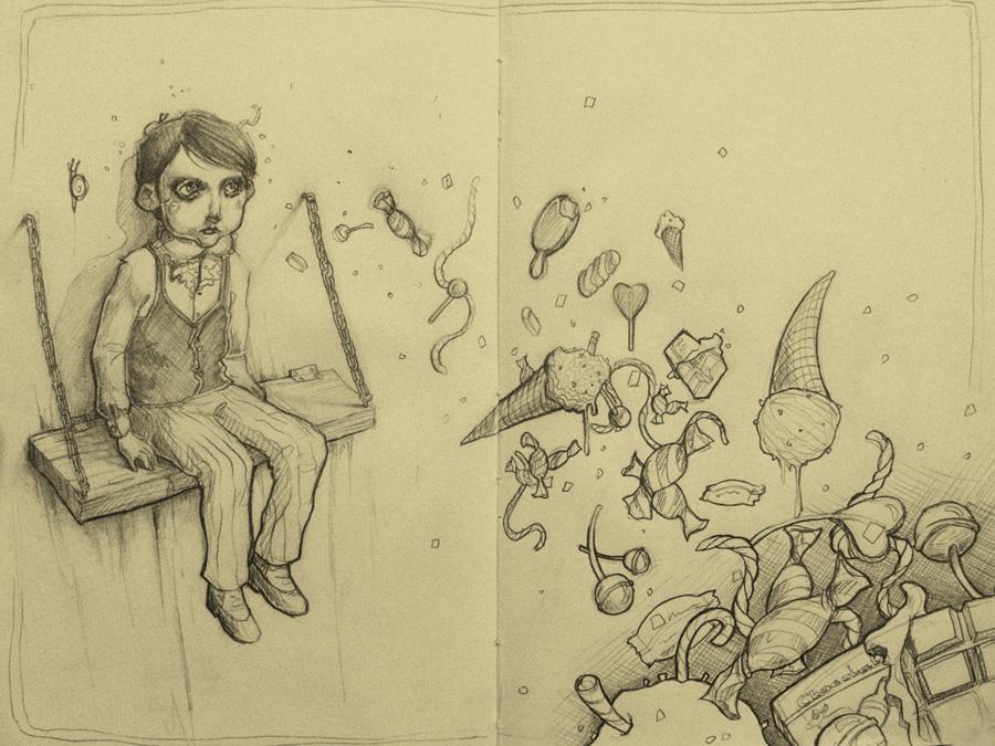 First sketch on my moleskine by novac
