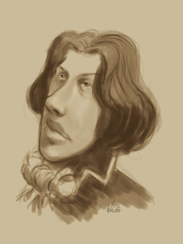 Oscar Wilde Sketch by novac