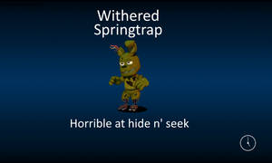 Withered Springtrap FNaF World (Loading screen)