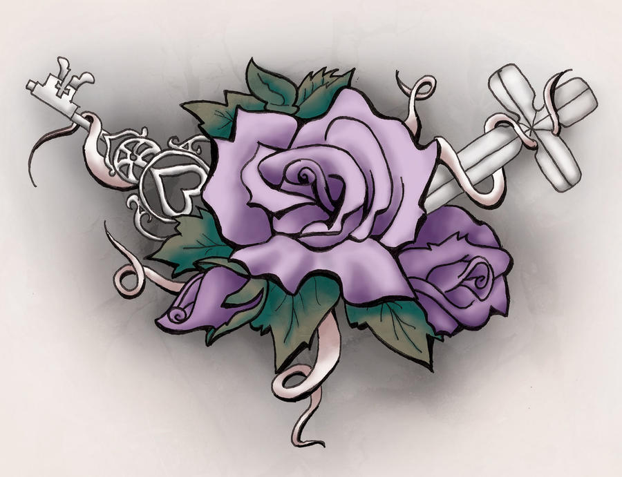 Flower tattoo by capricorngal88