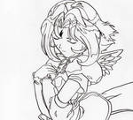 Lady Subaru lineart by Alpah-wolf-girl