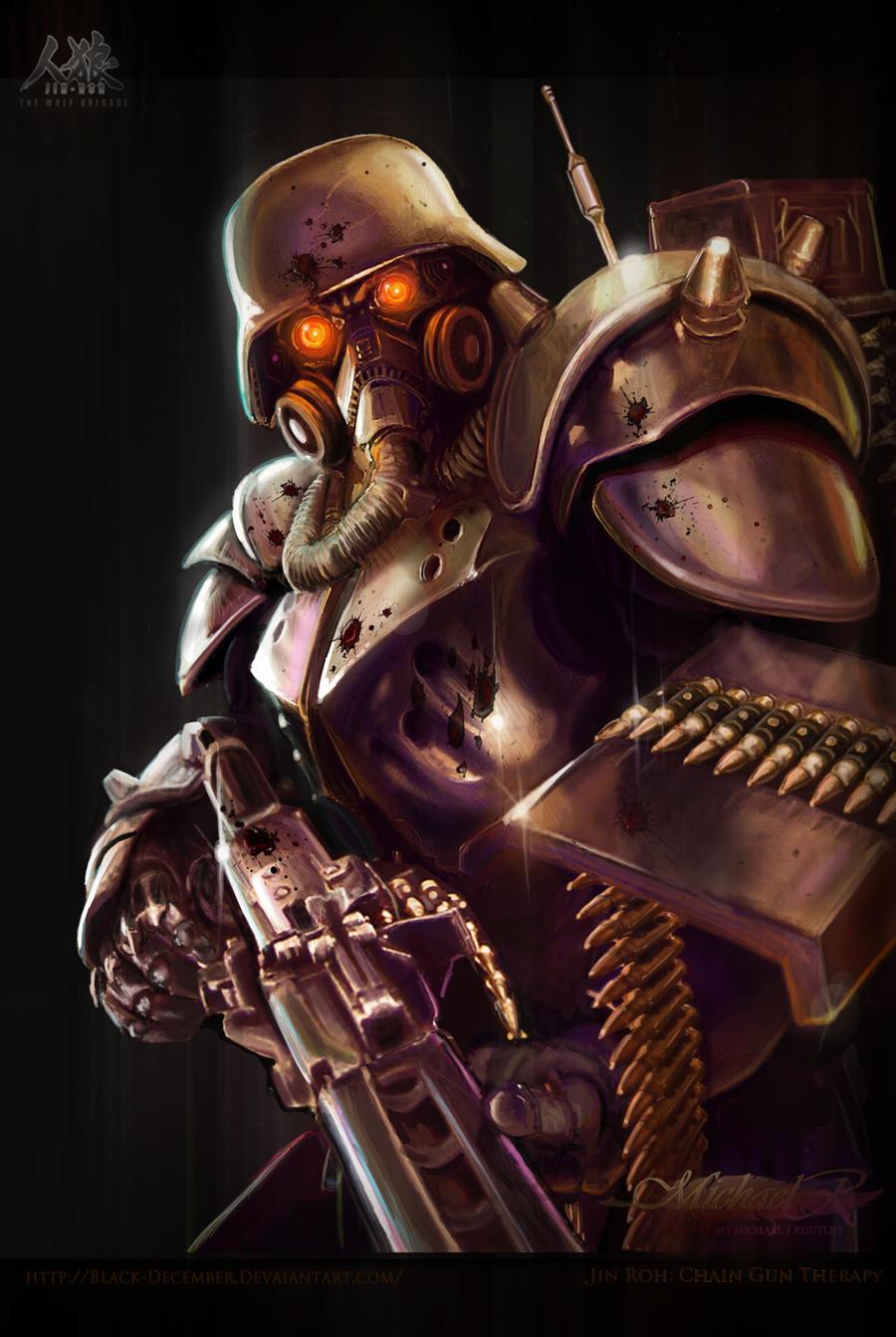 Jin Roh: Chain Gun Therapy by Trezykx