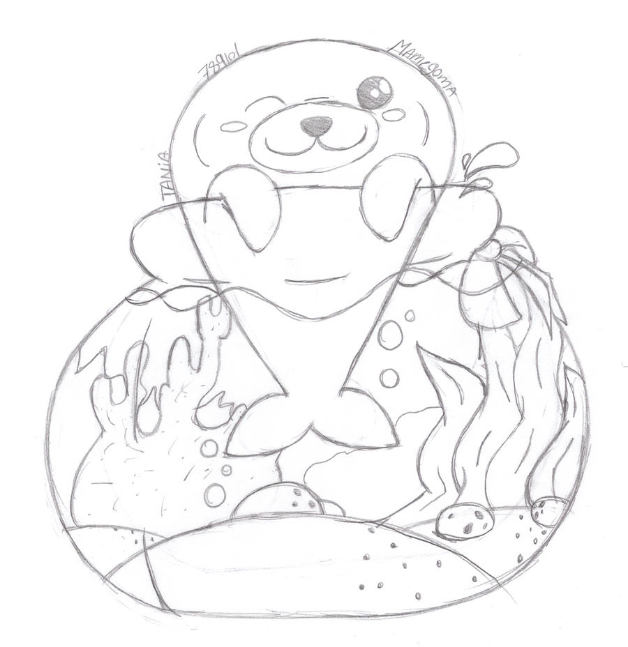 Mamegoma Request By 789lol On Deviantart Mamegoma Coloring Pages