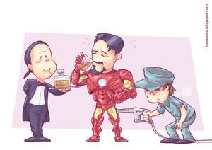 Tony Stark Filling the Tank