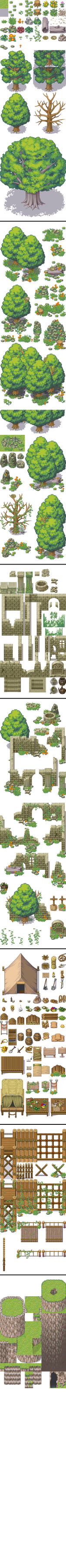 Tileset bosque expansion rtp - RPG Maker XP by Mataraelfay