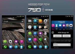 Meego Nokia N9 - ADW Theme Preview