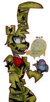 it's Springtrap the easter bunny