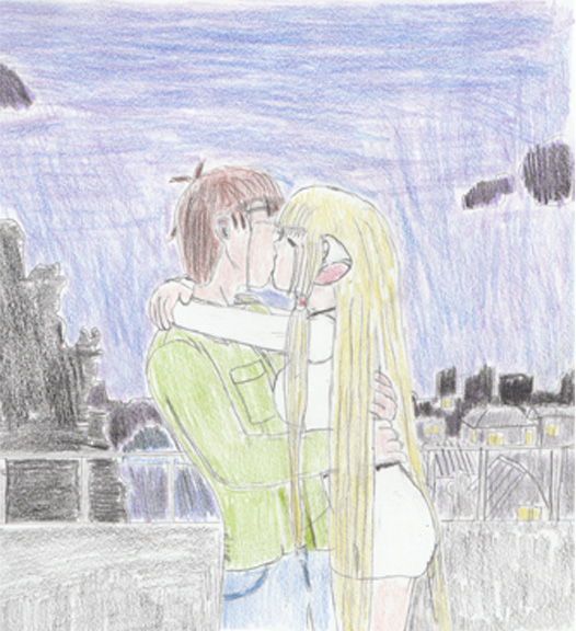 Hideki and Chii kiss by Jax1776 on DeviantArt