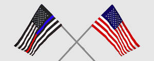 4th of July crossed flags