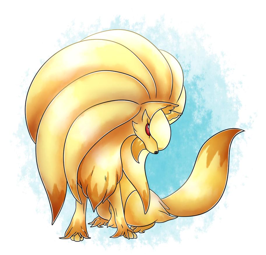 Mega Ninetales (Fire/Ghost) by Eiddiw | pokemon | Pinterest ...