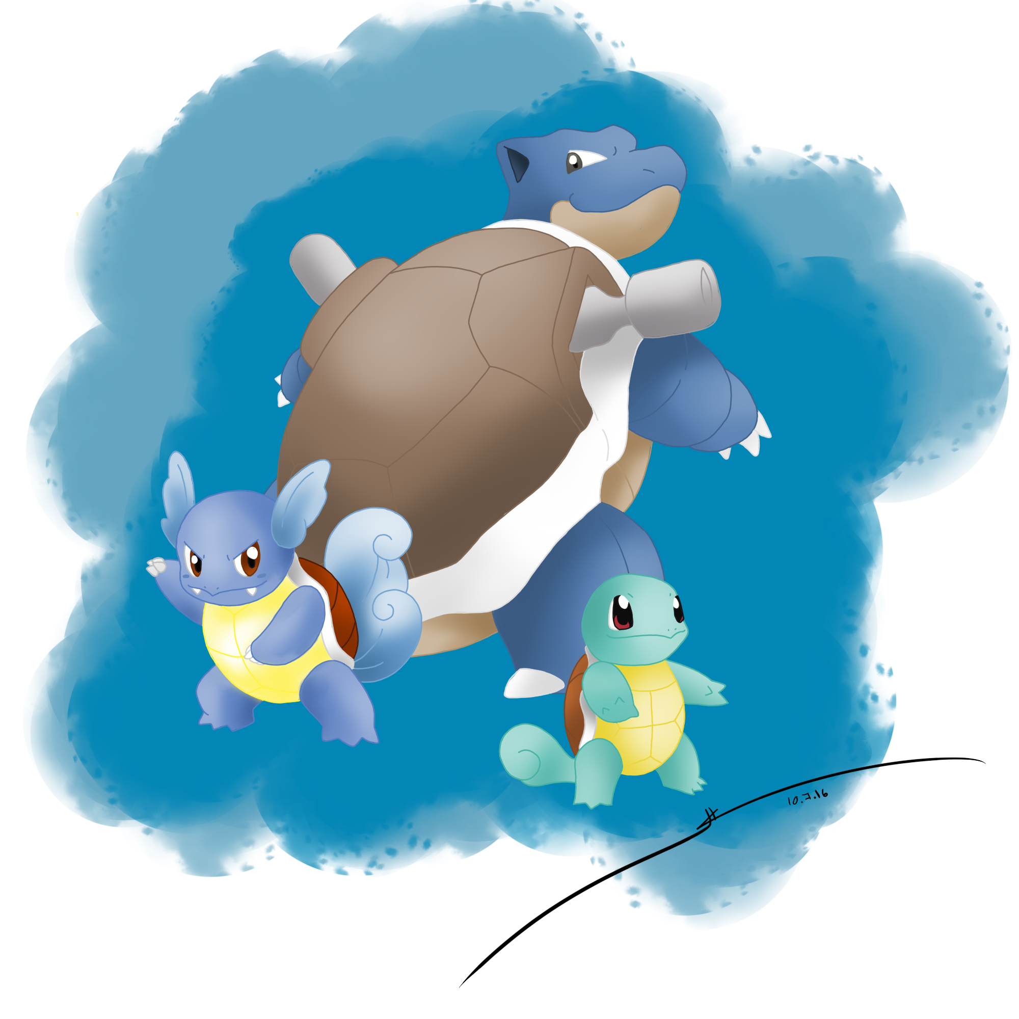 Squirtle-Wartortle-Blastoise favourites by MCsaurus on ...