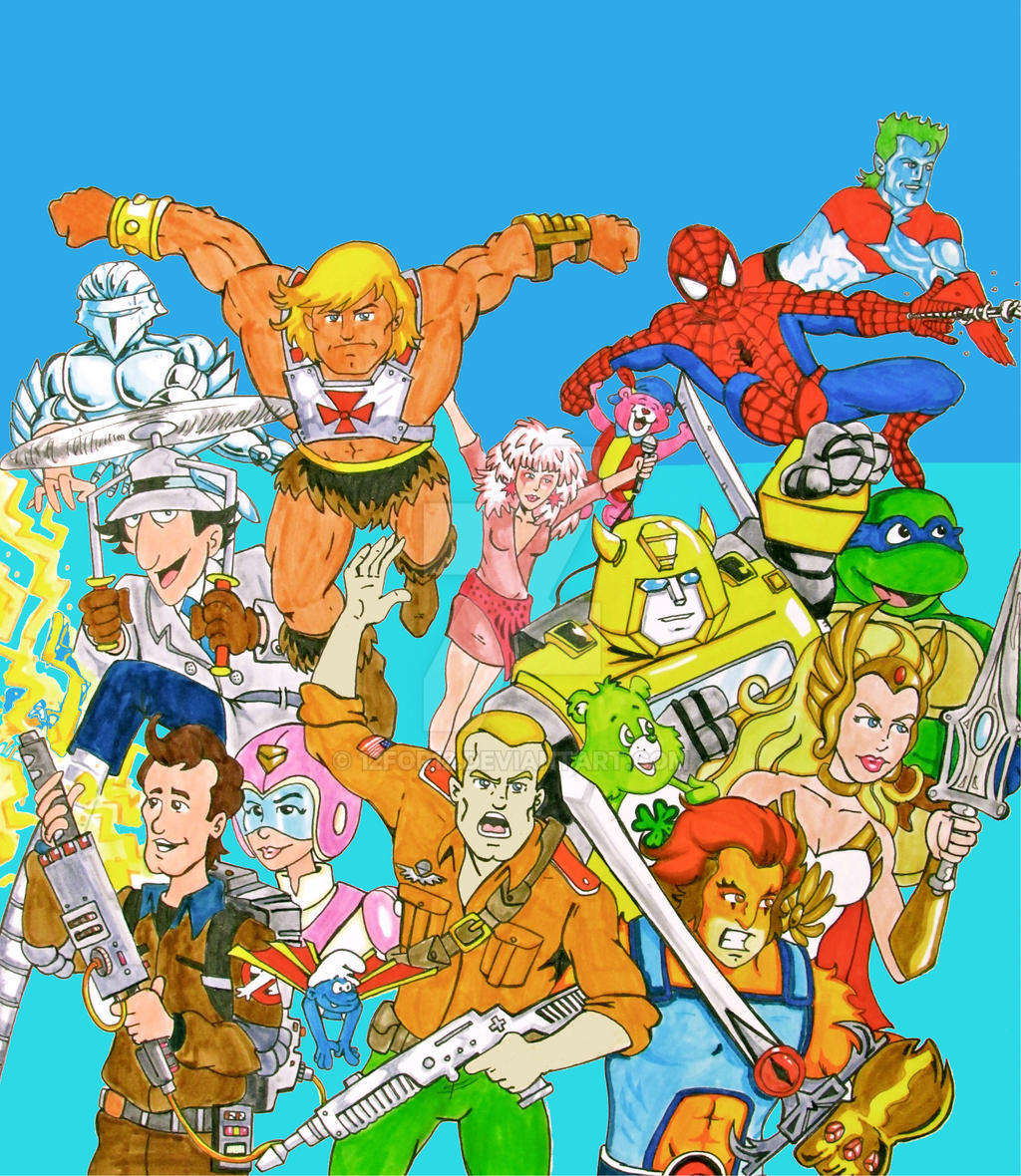Cartoon Characters Of The 80s : S cartoon all stars by for on deviantart