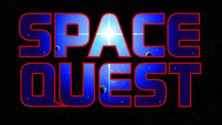 Space Quest Logo Recreation 4k (Starfield BG)