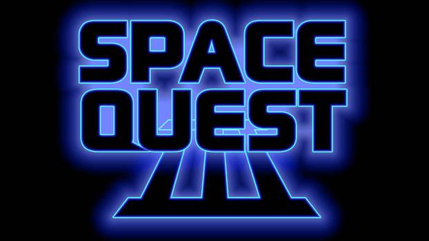 Space Quest III Logo 4k (Box Font 1/Black)