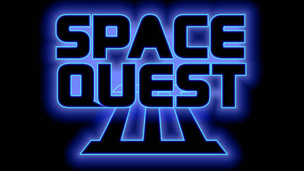 Space Quest III Logo 4k (Box Font 2/Black) by MusicallyInspired