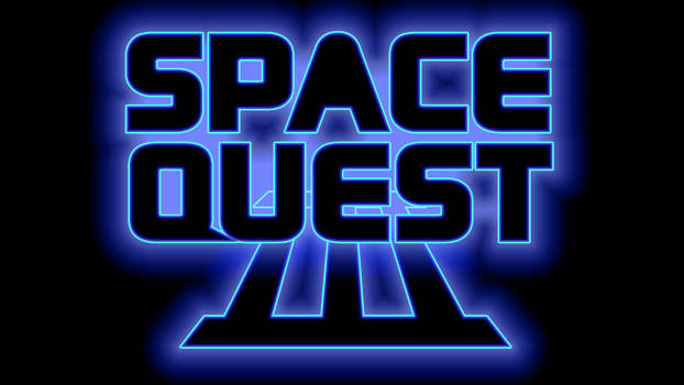 Space Quest III Logo 4k (Box Font 2/Black)