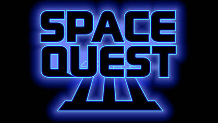 Space Quest III Logo 1080p (Box Font 1/Black) by MusicallyInspired
