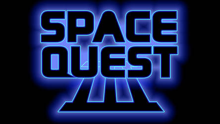 Space Quest III Logo 1080p (Box Font 2/Black) by MusicallyInspired