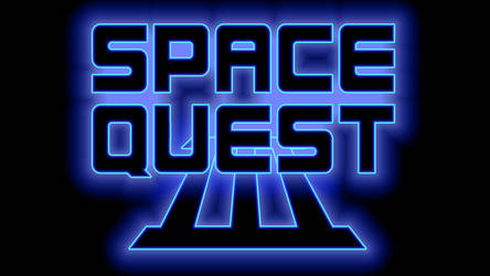 Space Quest III Logo 1080p (Game Font/Black)