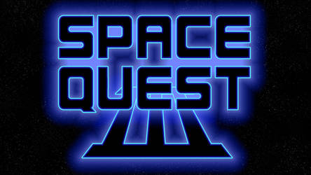 Space Quest III Logo 1080p (Game Font/Stars)