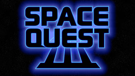 Space Quest III Logo 1440p (Box Font 1/Stars) by MusicallyInspired