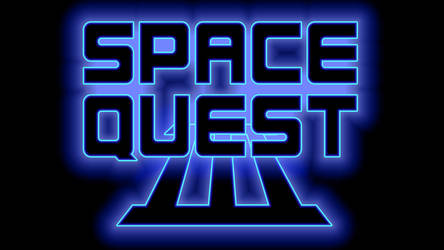 Space Quest III Logo 1440p (Game Font/Black)