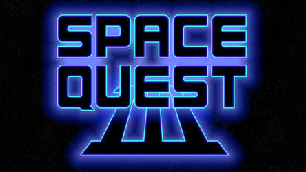 Space Quest III Logo 1440p (Game Font/Stars) by MusicallyInspired