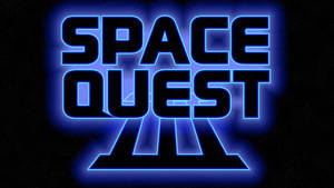 Space Quest III Logo 4k (Box Font 1/Stars)