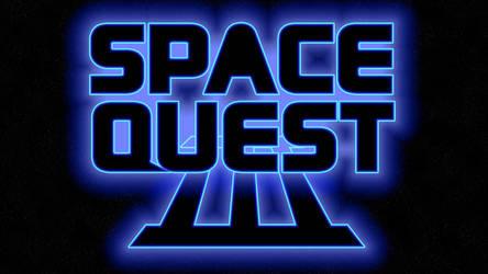 Space Quest III Logo 4k (Box Font 2/Stars)
