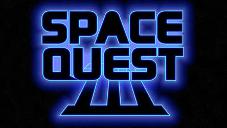 Space Quest III Logo 4k (Box Font 2/Stars) by MusicallyInspired