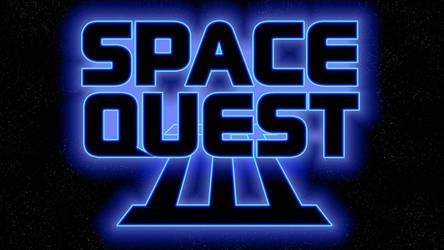 Space Quest III Logo 1080p (Box Font 1/Stars)