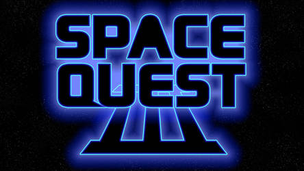 Space Quest III Logo 1080p (Box Font 2/Stars) by MusicallyInspired