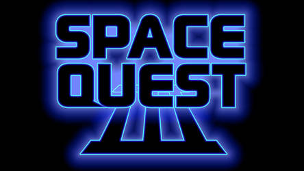 Space Quest III Logo 1440p (Box Font 1/Black) by MusicallyInspired