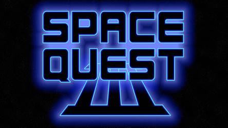 Space Quest III Logo 4k (Game Font/Stars)