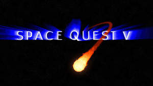 Space Quest V Logo (w/comet) 4k Wallpaper