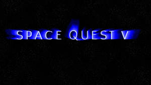Space Quest V Logo (no comet) 1080p Wallpaper