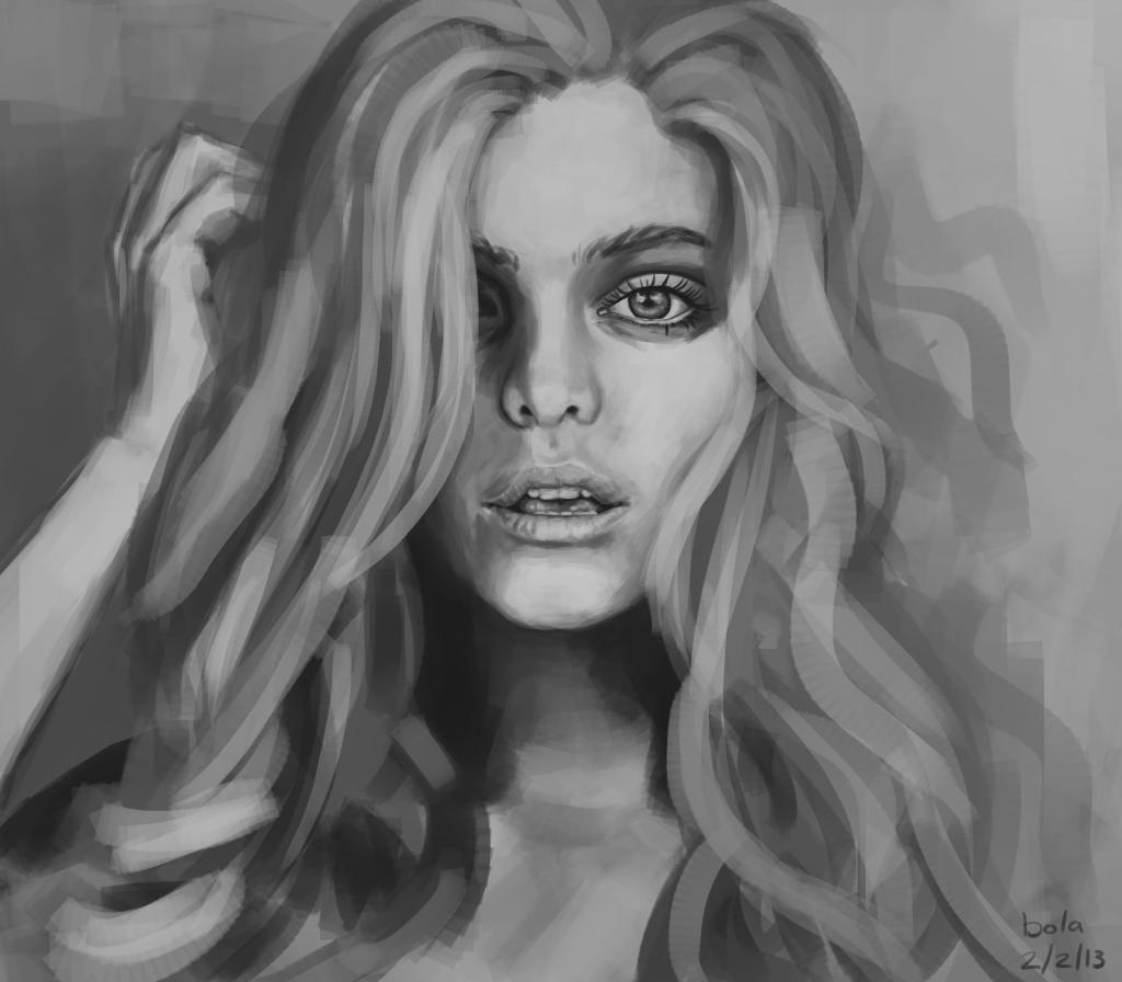 Nina Speed Painting By Markybola