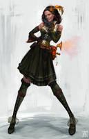 Steampunk Girl2 by volkanyenen