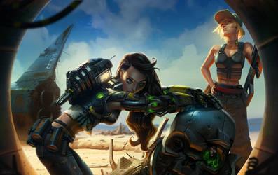Bionic girl by volkanyenen
