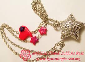 Glitter stars by Sarudanya