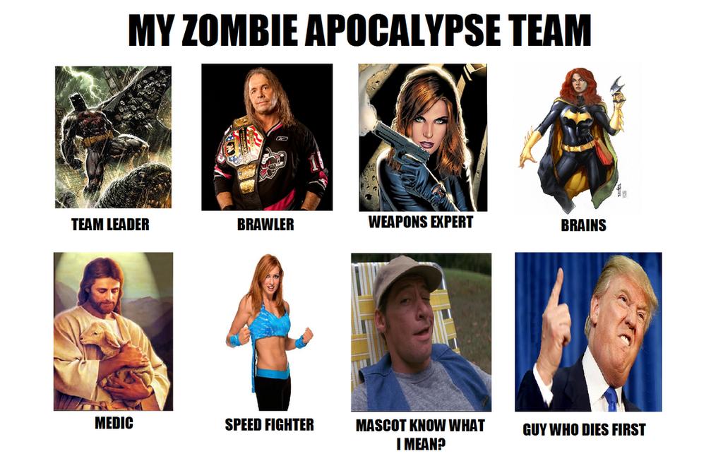 My Zombie Apocalypse Team by vaderandrew